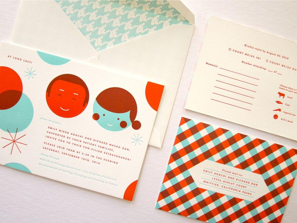 The Indigo Bunting: Emily + Dan wedding invitations