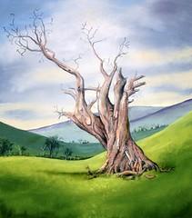 The Tree (CKWard42) Tags: tree painting oak pastel olde thetree