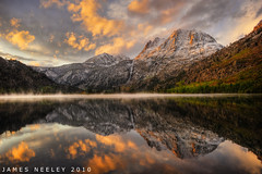 Golden Morning at Silver Lake (James Neeley) Tags: california sunrise landscape silverlake mammothlakes 5xp mywinners superaplus aplusphoto jamesneeley exposurefusion