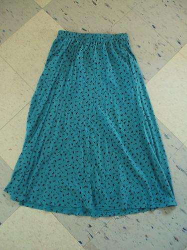 Tiny African Animal Print Long Skirt