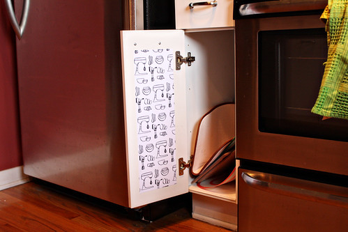 edited Mod Podge Kitchen Cabinet liners (6)