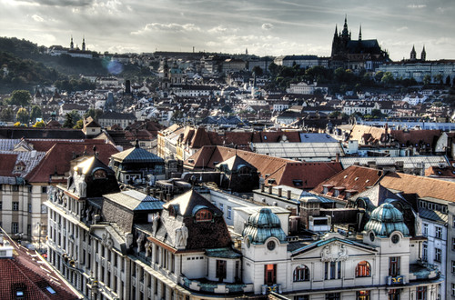 View of Prague. Vista de Praga