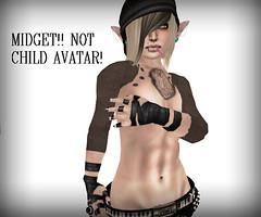 My midget avatar shape (PieInk) Tags: sl secondlife midget femboy