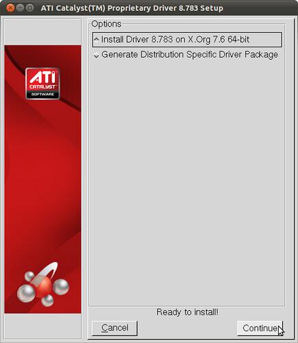 Figura 3 - Installazione Driver ATI Catalist, parte l'installer che guida nella procedura d'installazione;