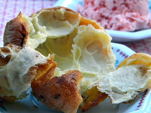 Popovers (Yorkshire Puddings) with Strawberry Butter