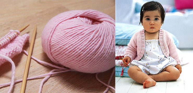 Pink Baby Shrug