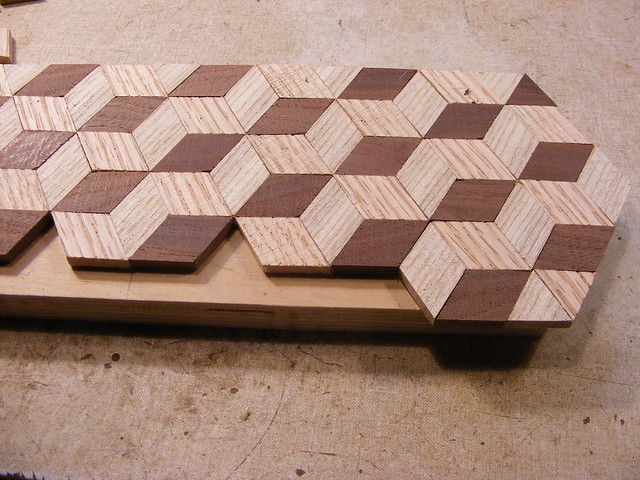Making a Tumbling Block Cribbage Board #14