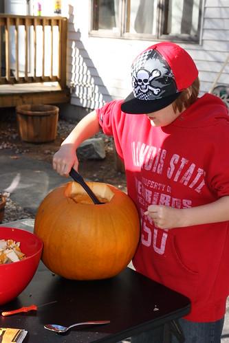 Wesley scooping