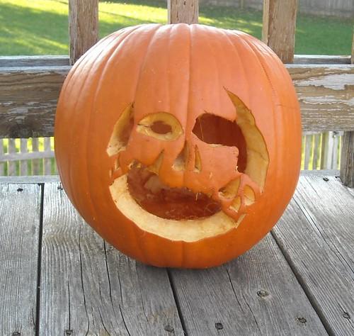 skull pumpkin