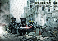 WEIRD WAR II Wehrmatch lighting test (Shobrick) Tags: world city car studio skeleton army weird amazing blood war artist lego mask nazi unknow gas ii german tiny sword damage soldiers tt ww custom armory mp5 tactical uas brickarms shobrick wermarth