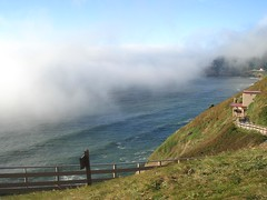 Mystery fog (mag3737) Tags: ocean lighthouse fog cave sealion railing