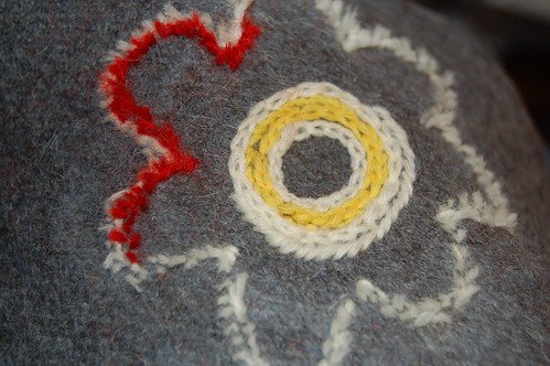 Wool embroidery - cutting it away