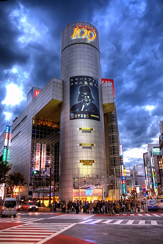 Darth Vader Over Shibuya