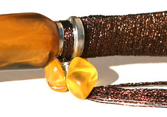 #5 athame - brown and silver with amber (detail) (Opal Owl) Tags: crystal wand ritual healing wicca athame reiki talismans