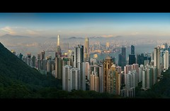The Peak (d.r.i.p.) Tags: china panorama skyline architecture clouds skyscraper hongkong nikon asia soho central peak victoria hong kong drip architektur 24mm thepeak kowloon ifc 180 hkg victoriapeak bankofchina 2470mm