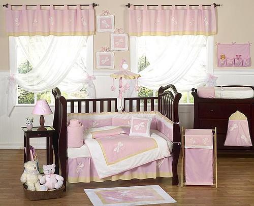 JoJo Designs Pink Dragonfly Dreams Cribset at www.uniquelinensonline.com