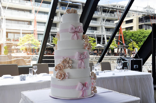 Wedding Cake -Pink and White