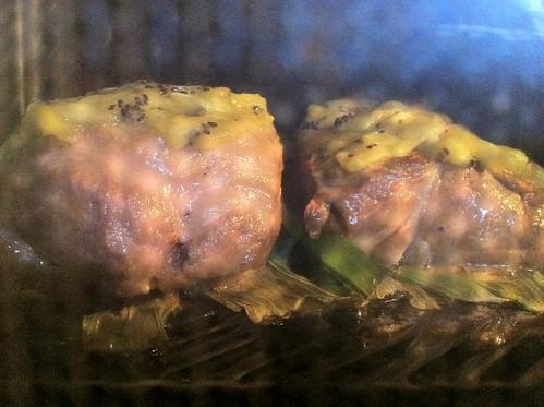 肉が焼き上がりました