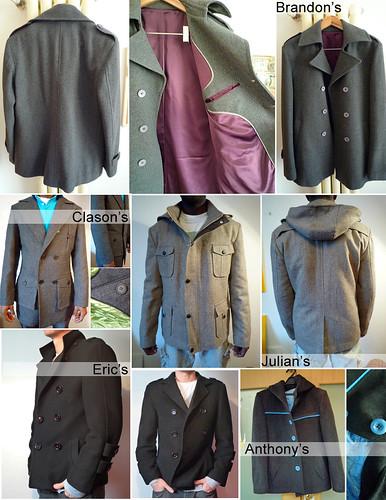 Eric's coat samples