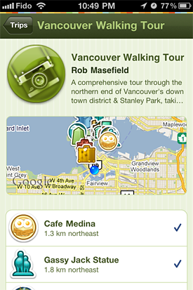 Gowalla Walking Tour of Vancouver Trip