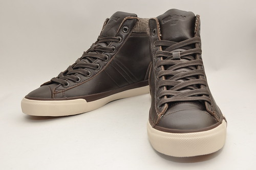 Royal Plus Hi - Brown Tweed Leather