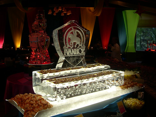 2 Level Seafood display Ivanhoe ice sculpture