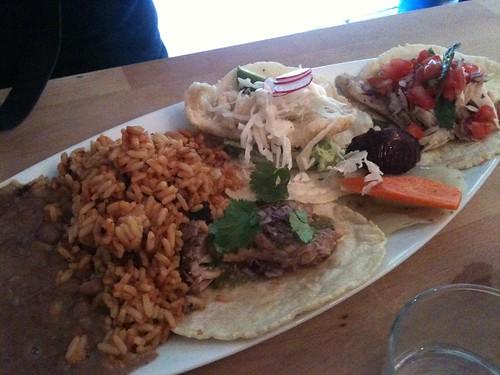 Rice & Beans: Taco Combo