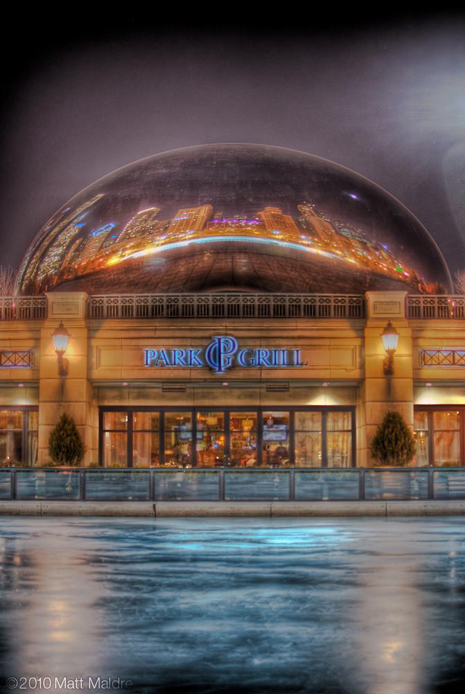 Millennium Park ice rink starts to freeze underneath the Chicago Bean