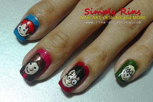 Nail Art Harry Potter Characters 01