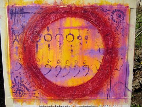 Enso Mandala - Acrylic on Artboard