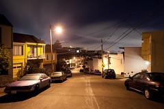 From Above (metroblossom) Tags: sanfrancisco california street houses mist night hills bayarea residential img5179 singlefamilyhouses