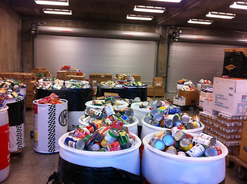 More than 13,000 canned and non-perishable food items