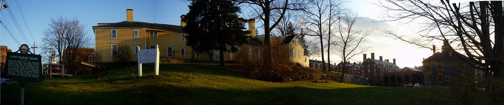 Ladd-Gilman House (1721) & Folsom Tavern (1775) (pano)