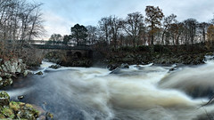 Bridge at Feugh Falls (PB213525) (Mel Stephens) Tags: uk longexposure bridge panorama water landscape geotagged scotland long exposure aberdeenshire panoramic structure le manmade gps scape stitched hdr 2010 banchory deeside feugh ptgui aberdonia
