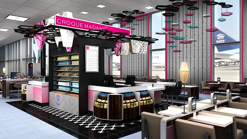 Delta JFK Croque Madame Terminal 2