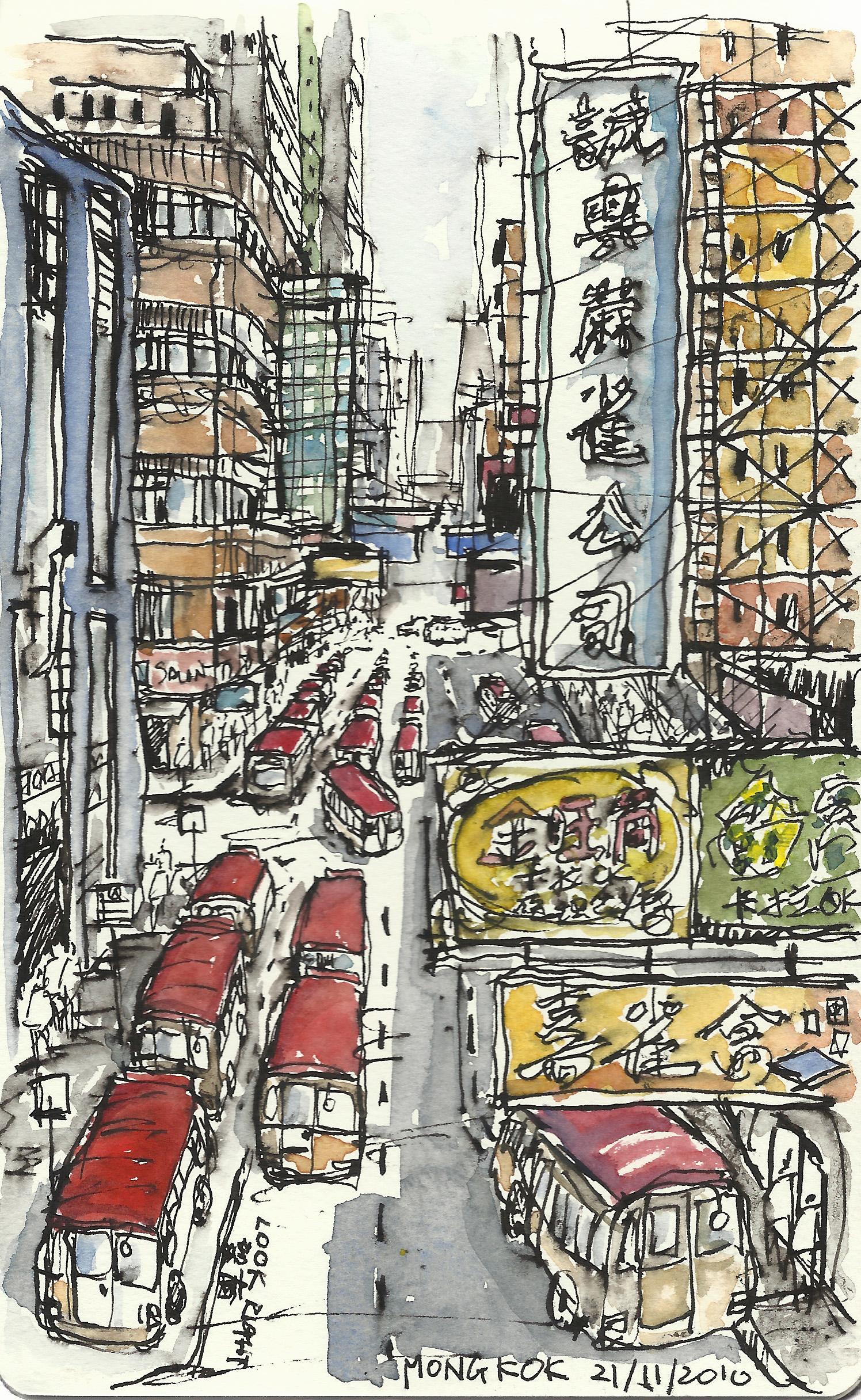 Mongkok in colour, HK