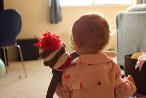 Girl and Sock Monkey