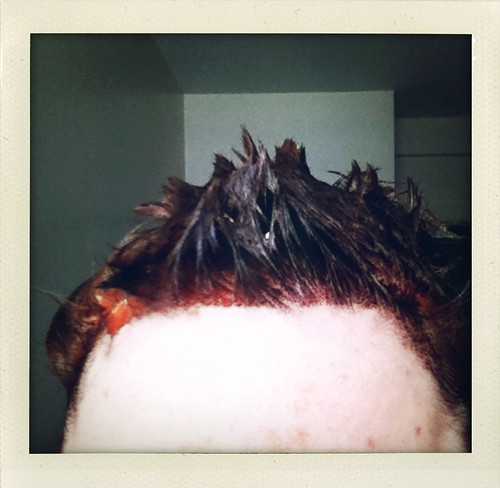 the red dye is in