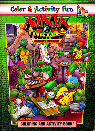 "RANDOM HOUSE :: ""Ninja Turtles: The Next Mutation"" COLORING & ACTIVITY BOOK i  (( 1998 ))"