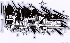 KACAO77 UNIVERSES 2010 / WOZER OUTLINE BLACK GREY WHITE (KACAO77 UNIVERSES) Tags: fiction white black berlin matrix pen ink grey graffiti design sketch comic graphic letters style science letter marker outline 77 exchange 2010 construct universes bmk aoa kacao77 kacao novax wozer