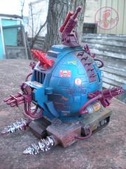 """TEENAGE MUTANT NINJA TURTLES :: """"Technodrome Scout Vehicle"""" { 1993 } KB Toys Reissue // ..detail iii  (( 1998 ))"""