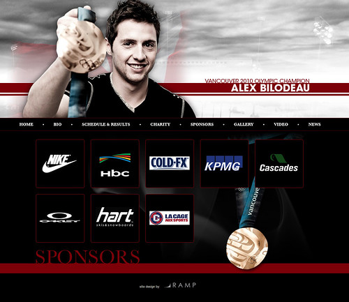 VANCOUVER 2010 OLYMPIC CHAMPION ALEX BILODEAU @ GOLD MEDAL PLATES 2010