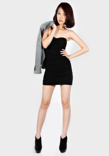 ruched-tube-dress