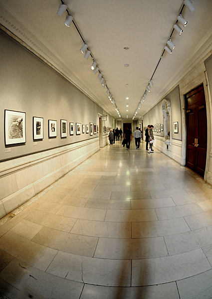 Photography gallery in corridor of New York Public Library (NYPL), 42nd Street, NYC by Karen Strunks