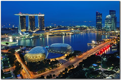 Singapore : marina bay singapore 新加坡 (fiftymm99) Tags: road park travel bridge urban building skyline skyscraper marina river shopping lights hotel singapore asia waterfront resort esplanade pokemon cbd lantern sands lanternfestival merlion boatquay mooncake autumnfestival clarkequay singaporeriver refelection swissotel integrated cliffordpier marinabay centralshoppingmall nikond300 fiftymm99