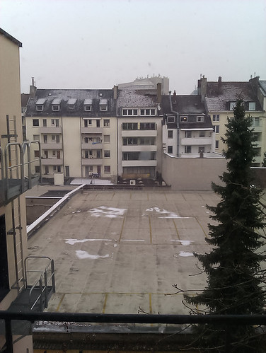 Snow in Düsseldorf