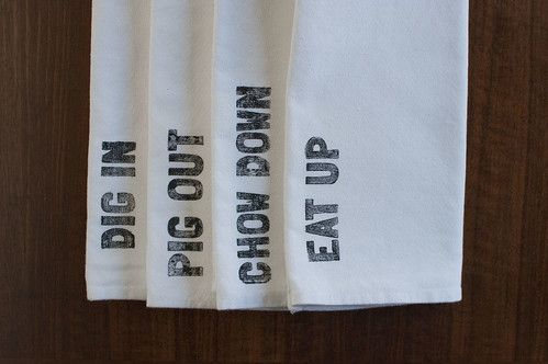 """four phrases"" napkin set"