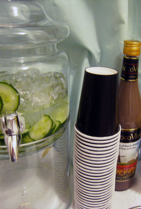 cucumber water+chocolate wine+thanksgiving desserts