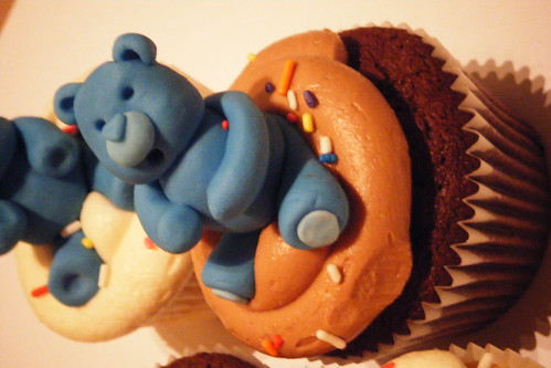 Blue Teddy Bear Cupcake