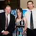 Customer Service Award winner Sally McGrath from C&A Communications (centre) with sponsor Justin Salisbury from CRS Accessories (right) and ARCIA Committee Member, Hamish Duff (left)